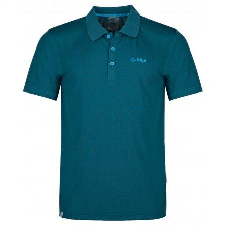 Pánské funkční triko KILPI COLLAR-M PM0021KI TMAVĚ MODRÁ