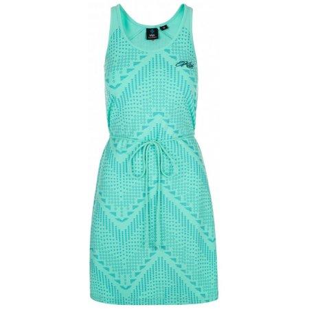 Dámské šaty KILPI MELIA-W PL0096KI TYRKYSOVÁ
