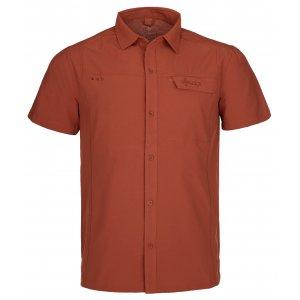 Pánská košile KILPI BOMBAY-M PM0020KI TMAVĚ ČERVENÁ